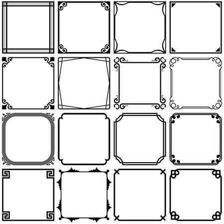 verschnörkelt: Einfache Rahmen