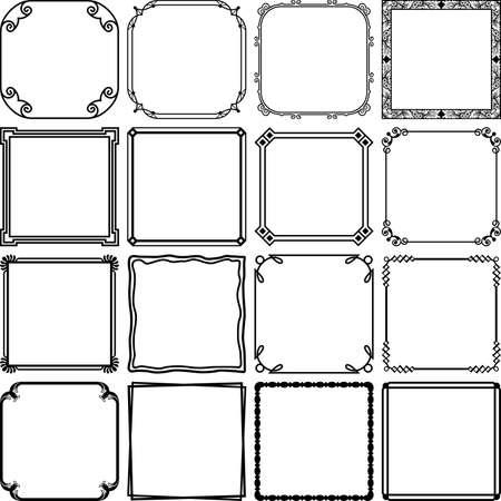 decorative border: Simple frames