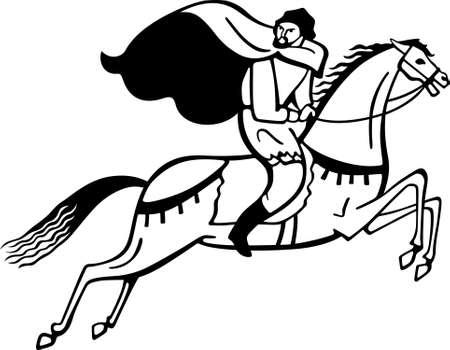 Horse Rider illustration  Illustration
