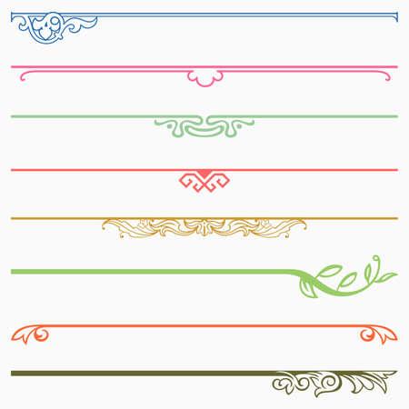 decoratif: Intercalaires illustrations