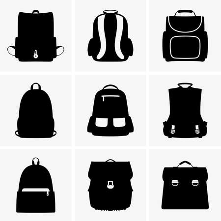 school backpack: School bags Illustration
