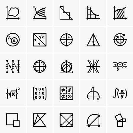 Math pictogrammen Stock Illustratie