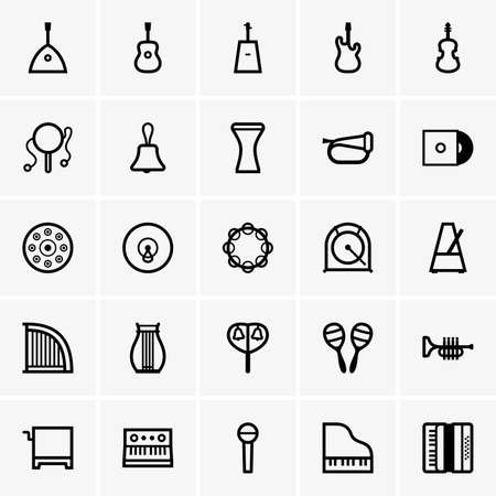 instruments: Musical Instruments Icons Illustration