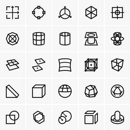 modelo: Iconos de modelado 3d