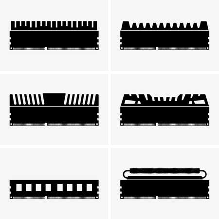 ram memory: Memory modules Illustration
