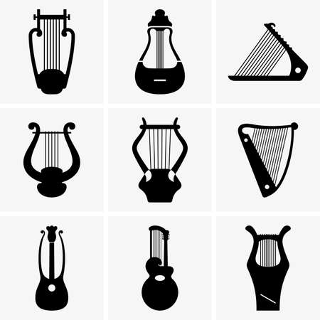 lyra: Harps Illustration