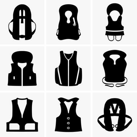 life jackets: Life jackets Illustration