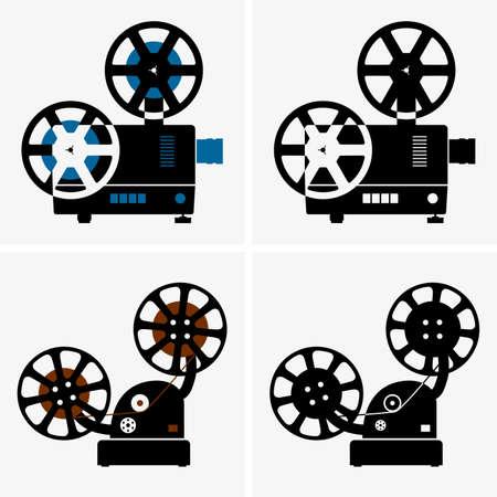 entertainment equipment: Movie cameras Illustration