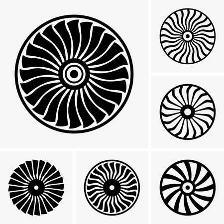 turbina: Turbinas de los motores de Jet