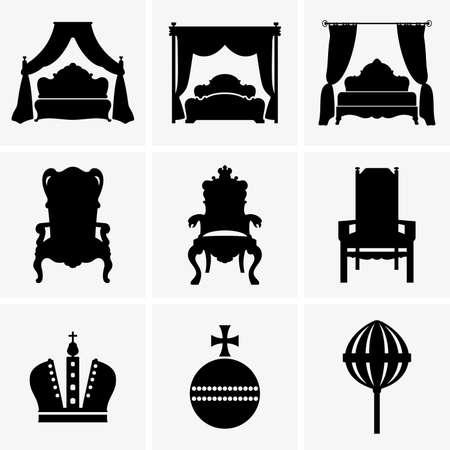 trono: Camas King y tronos