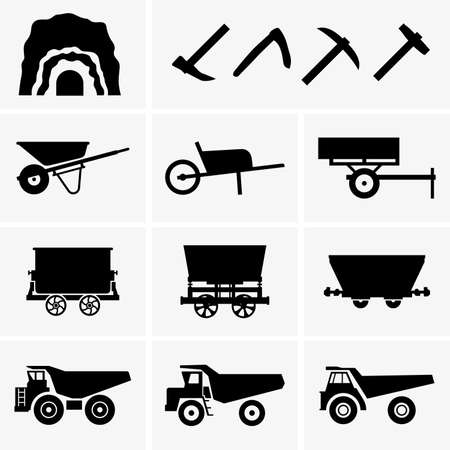 mining truck: Herramientas y transporte Minería