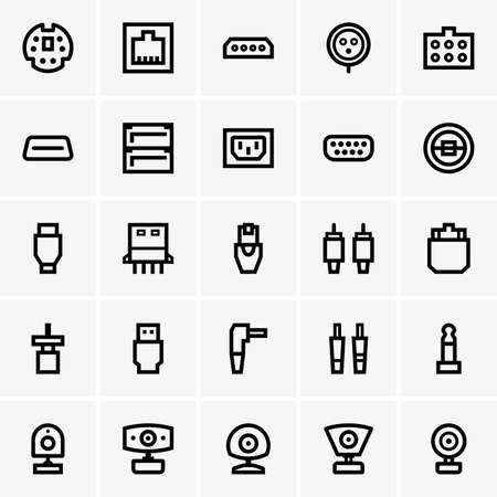 plugs: Plugs and web cameras Illustration