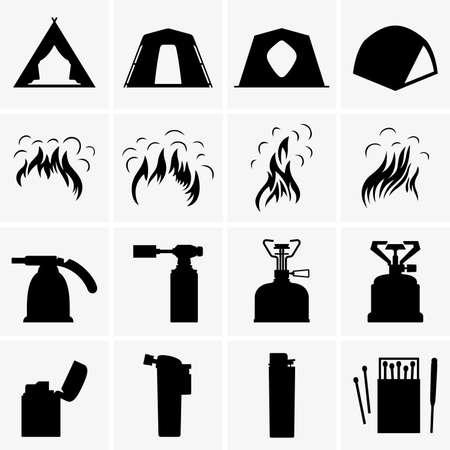 encendedores: Carpas, hogueras, antorchas y encendedores