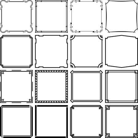 bordes decorativos: Fotogramas Vectores