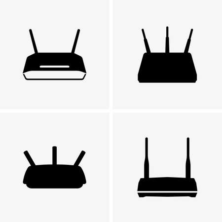 routers: Wifi routers Illustration