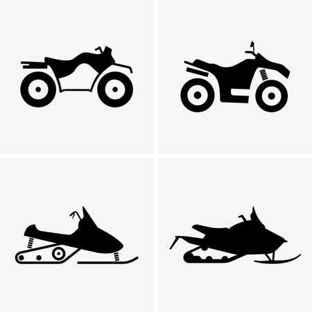 sports icon: ATV and Snowmobiles Illustration