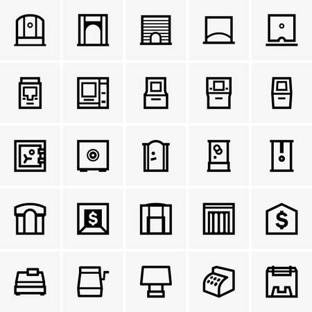 business icon: Finance  banking icons Illustration