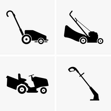 commercial lawn mower silhouette. lawn mowers commercial mower silhouette