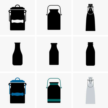 milk jugs: Milk cans and bottles