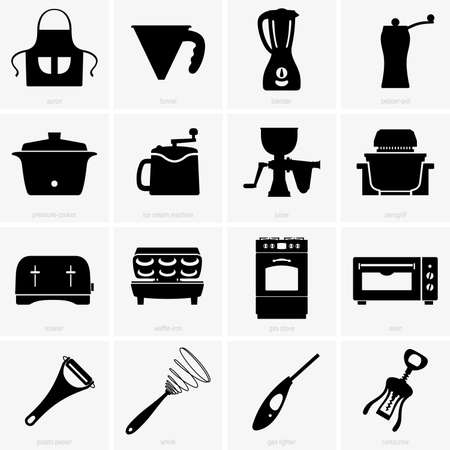 utensil: Kitchen appliances Illustration