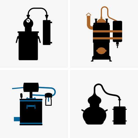 destilacion: Aparato de destilaci�n