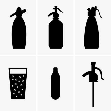 Soda siphons Stock Illustratie