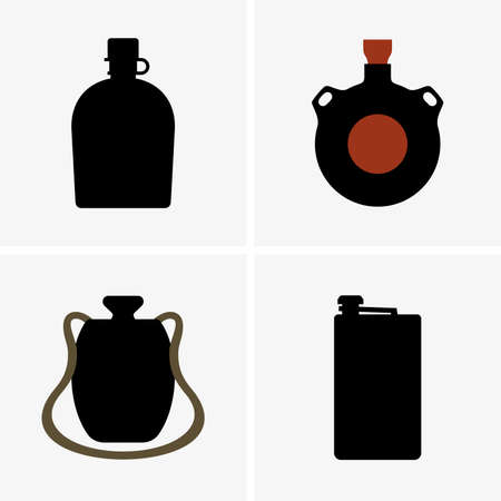 canteen: Water flasks Illustration
