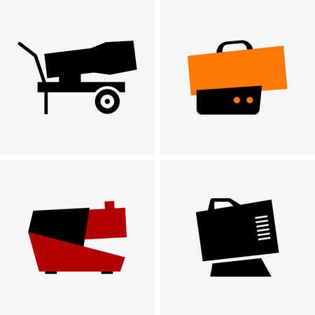 propane: Heat cannons Illustration