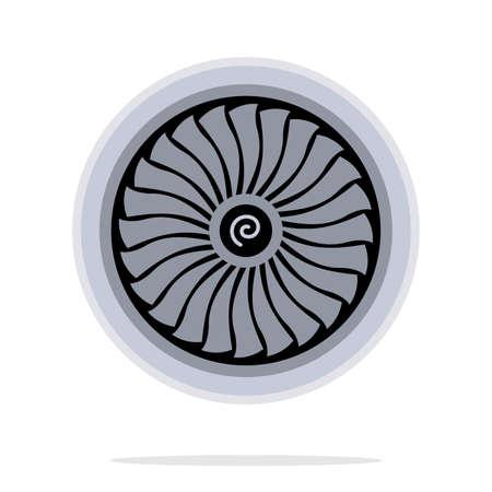 turbina del motor de jet Ilustración de vector