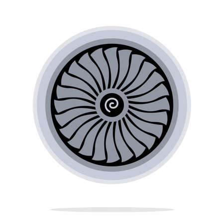 turbina: turbina del motor de jet