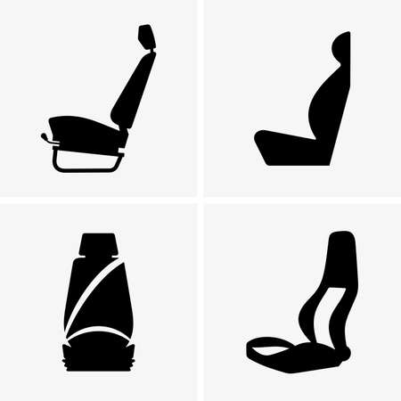chofer: asientos del conductor del coche