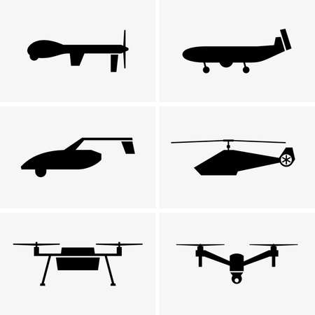 vector set: Drones Illustration
