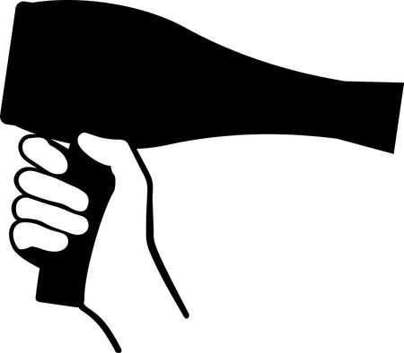 dryer: Hand holding a Hair Dryer