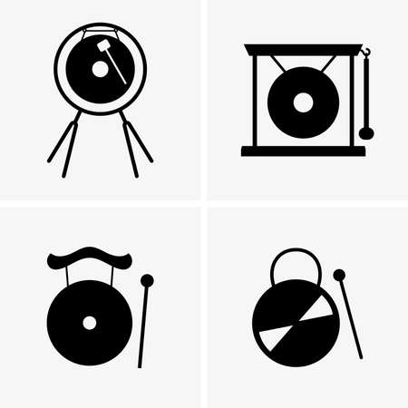 chinese drum: Gongs Illustration