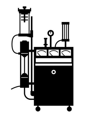 anesthesia: Life support machine Illustration