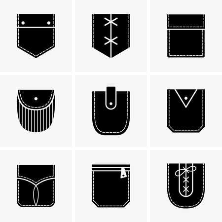 Pockets set Illustration