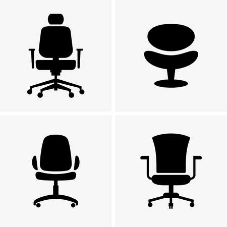 vector chair: Office chairs shade pictures