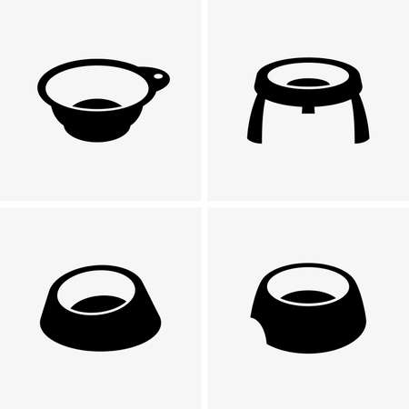 food dish: Dog bowls Illustration