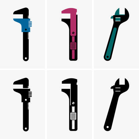 adjustable: Adjustable wrenches Illustration