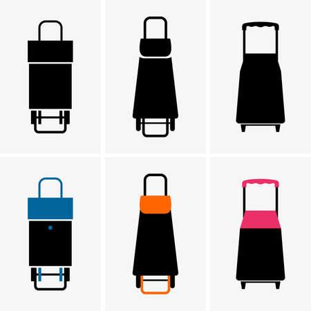 shopping trolley: Shopping trolley bags Illustration