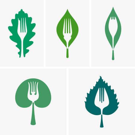 veggie: Organic food icons