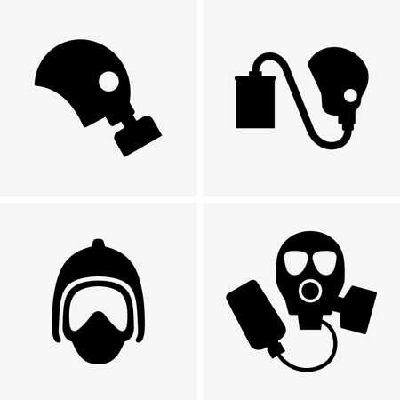 respirator: Gas masks shade pictures Illustration