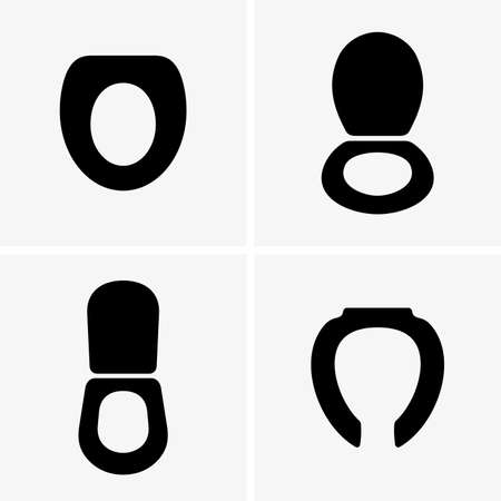 Toilet seats shade pictures  イラスト・ベクター素材