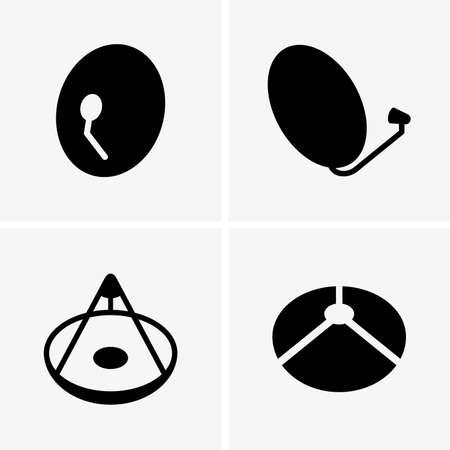 satellite in space: Satellite antenna Illustration