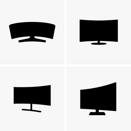 displays: Curved screen displays shade pictures