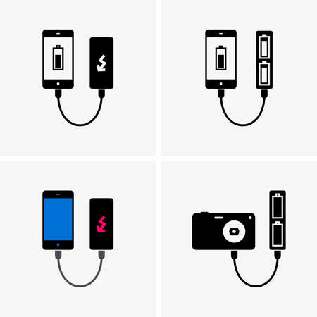 bank icon: Power banks Illustration