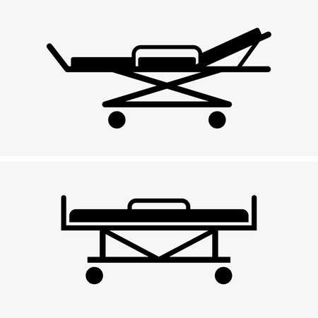 hospital icon: Hospital beds shade pictures