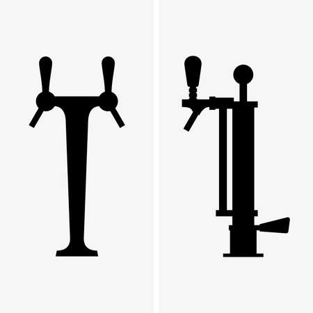 Beer taps shade pictures Illustration