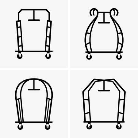 bagagli: carrelli bagagli hotel Vettoriali