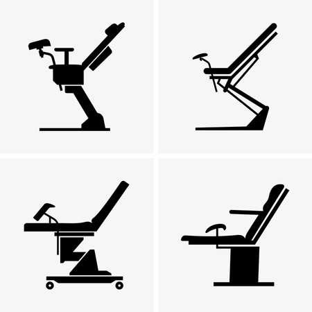 chaises gynécologiques Vecteurs